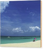 Circle Of Clouds On Grand Cayman Wood Print