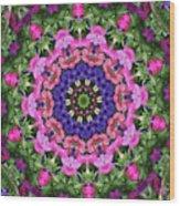 Circle Of Flowers Wood Print