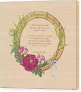 Circle Of Love Wood Print