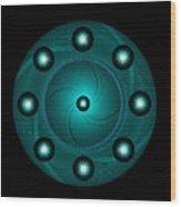 Circle Study No. 465 Wood Print