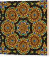 Circled Floral Mandala Wood Print