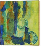 Circles 6 Wood Print
