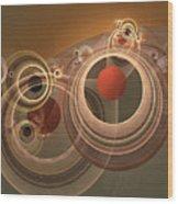 Circles And Rings Wood Print