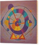 Circles In Space Wood Print