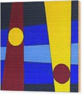 Circles Lines Color Wood Print