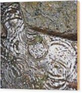 Circles Of Water Wood Print