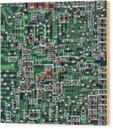 Circuit Board Wood Print