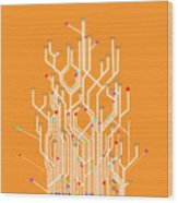 Circuit Board Graphic Wood Print by Setsiri Silapasuwanchai