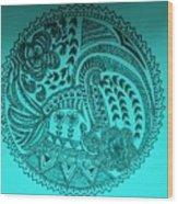 Circular Art Wood Print