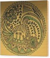 Circular Artwork Wood Print