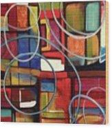 Circular Confusion Wood Print