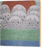 Circular Landscape Wood Print