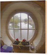 Circular Window Wood Print