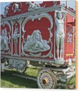 Circus Car In Red And Silver Wood Print