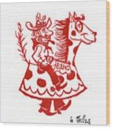 Circus Cowboy Wood Print