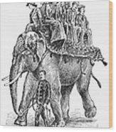 Circus: Elephant, C1901 Wood Print