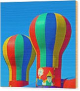 Circus In The Sky - Three Wood Print
