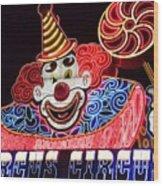 Circus Neons Wood Print