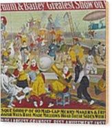 Circus Poster, 1903 Wood Print