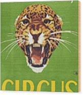 Circus Poster, 1940s Wood Print