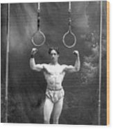 Circus Strongman, 1885 Wood Print