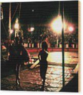 Circus View No3  1980s Wood Print