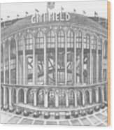 Citi Field Wood Print by Juliana Dube