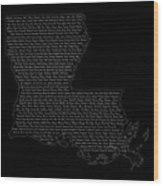 Cities And Towns In Louisiana White Wood Print