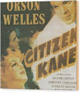 Citizen Kane - Orson Welles Wood Print