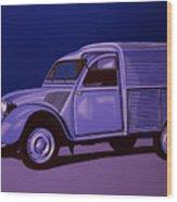 Citroen 2cv Azu 1957 Painting Wood Print