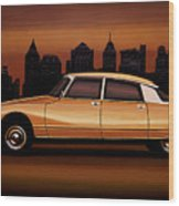 Citroen Ds 1955 Painting Wood Print