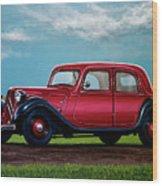 Citroen Traction Avant 1934 Painting Wood Print