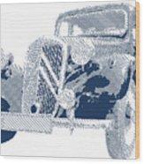 Citroen Traction Avant  - Parallel Hatching Wood Print