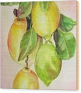 Citrons Wood Print