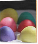 Citrus and Ultra Violet Easter Eggs Wood Print