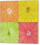 Citrus Fruits Wood Print