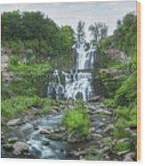 Cittenango Falls Tilt Shift Panorama  Wood Print