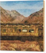 City - Arizona - Desert Train Wood Print