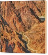 City - Arizona - Grand Canyon - A Look Into The Abyss Wood Print