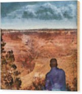 City - Arizona - Grand Canyon - The Vista Wood Print