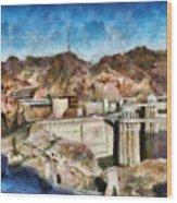 City - Nevada - Hoover Dam Wood Print