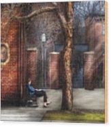 City - Newark Nj - Always Waiting  Wood Print