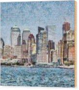 City - Ny - Manhattan Wood Print
