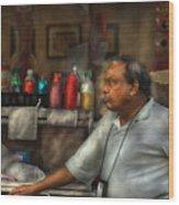 City - Ny - The Pretzel Vendor Wood Print