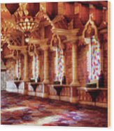 City - Vegas - Excalibur - In The Great Hall  Wood Print