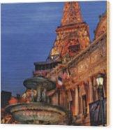 City - Vegas - Paris - Academie Nationale - Panorama Wood Print
