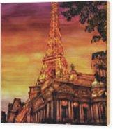 City - Vegas - Paris - The Paris Hotel Wood Print