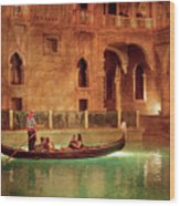 City - Vegas - Venetian - The Gondola's Of Venice Wood Print