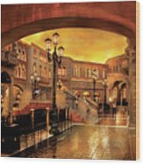 City - Vegas - Venetian - The Streets Of Venice Wood Print