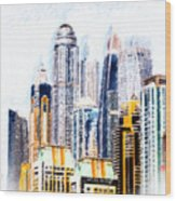 City Abstract Wood Print